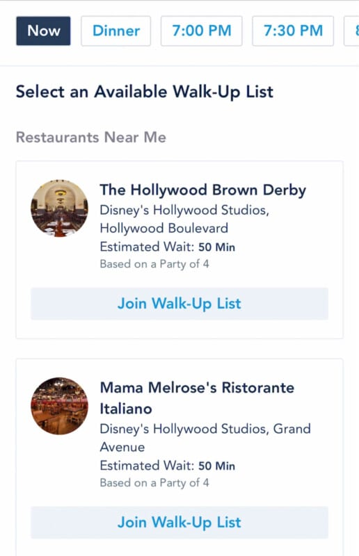 Screenshot of Disney mobile app