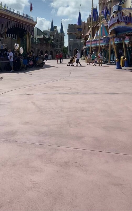 Ground near Fantasyland