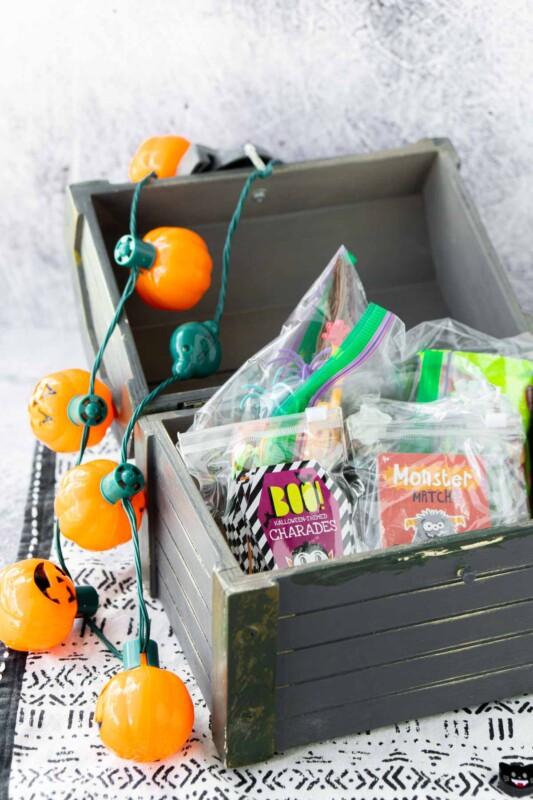 Treasure chest full of Halloween goodies