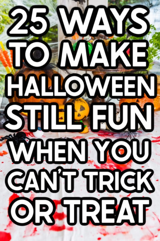 Halloween image with text on top for Pinterest