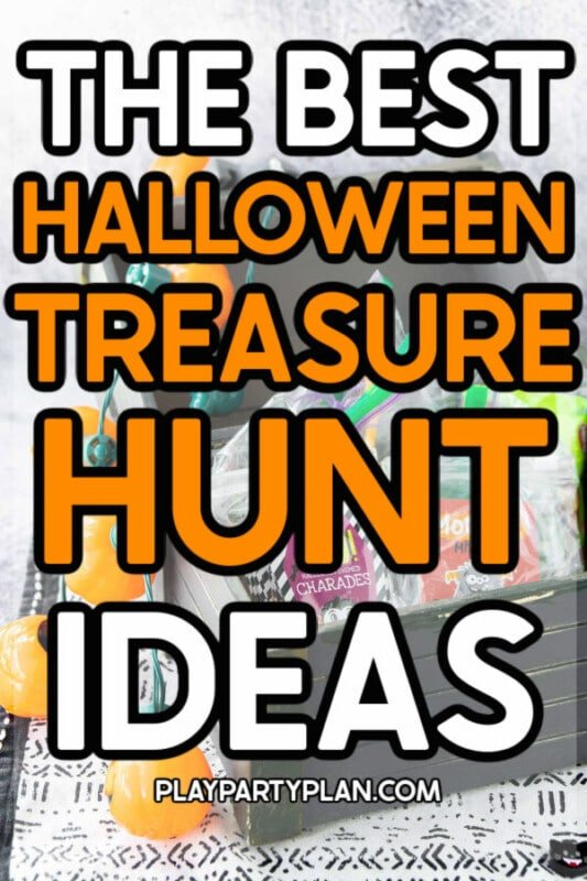 Treasure chest with text for Pinterest