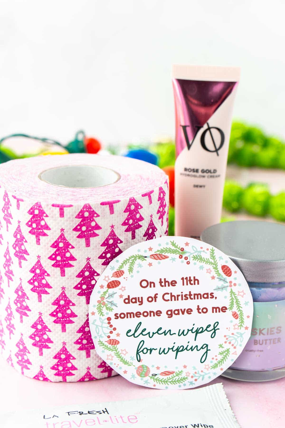 12 days of Christmas gifts for day 11 with a gift tag