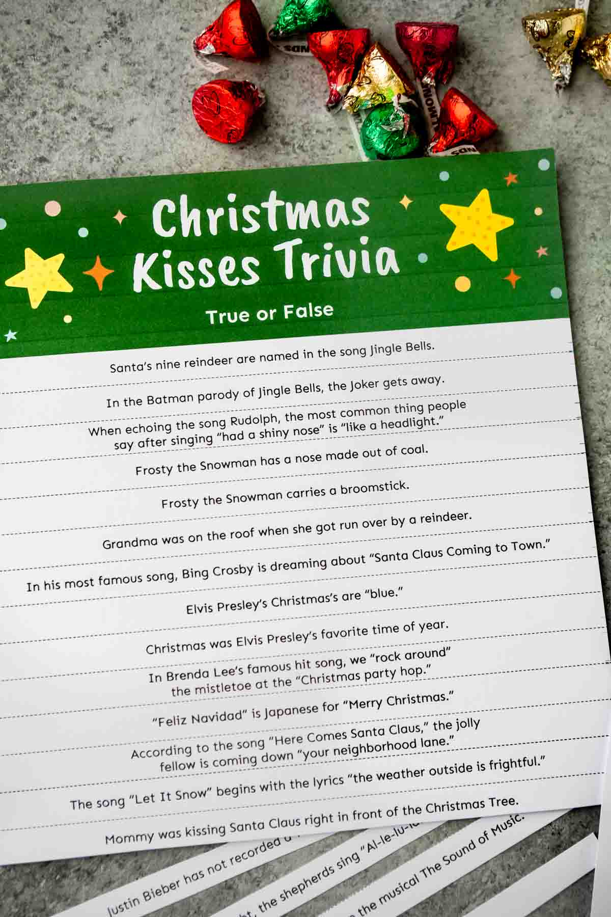 Questions for a Christmas trivia game