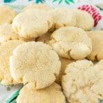 pile of small orange sugar cookies