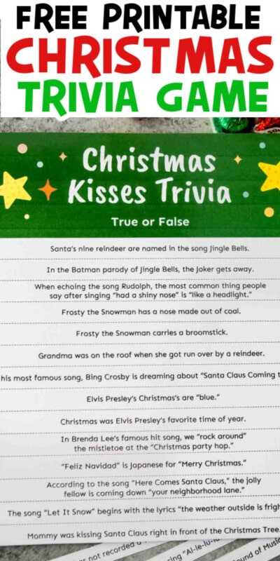 Christmas trivia game for pinterest