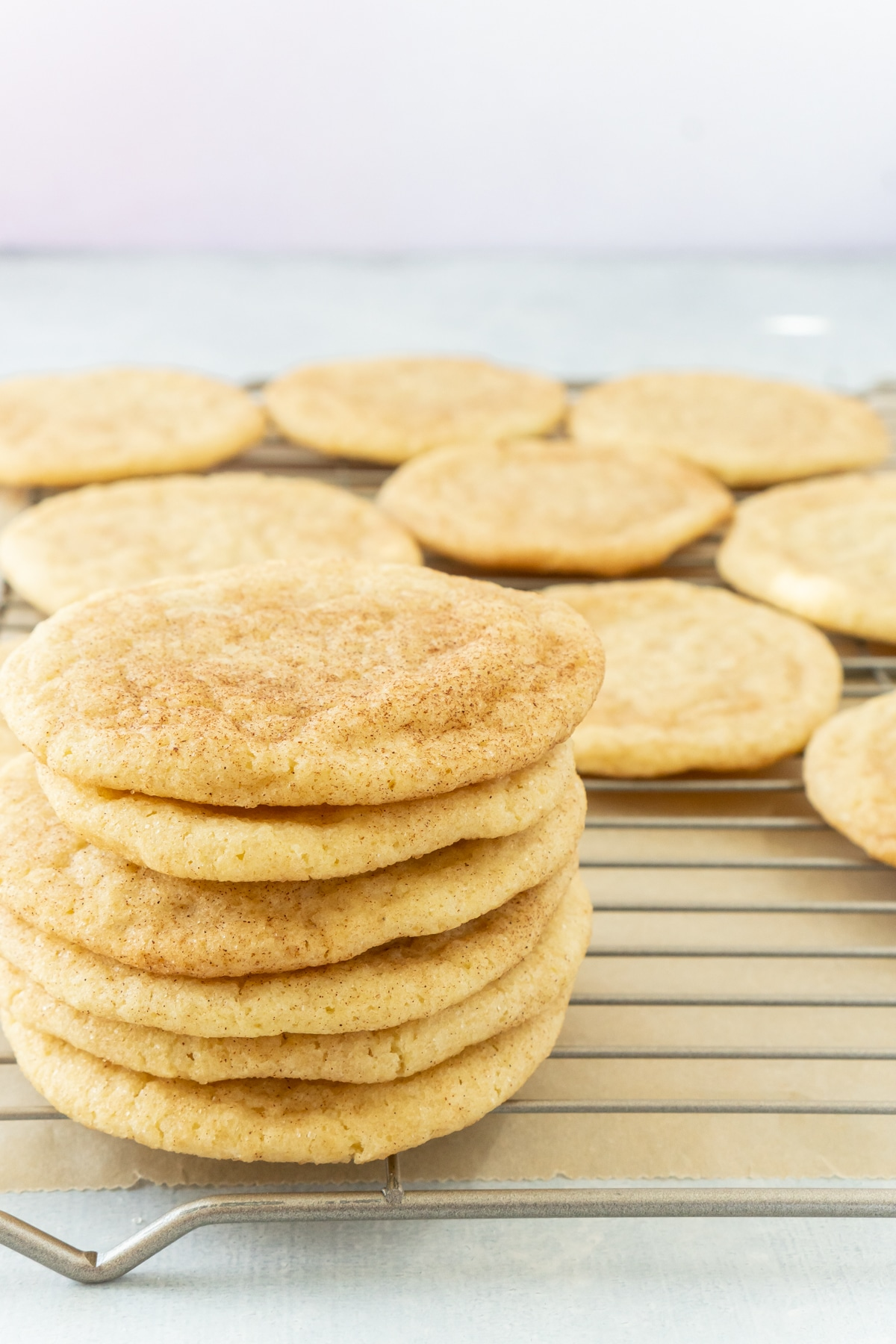 Stack of soft snickerdoodles
