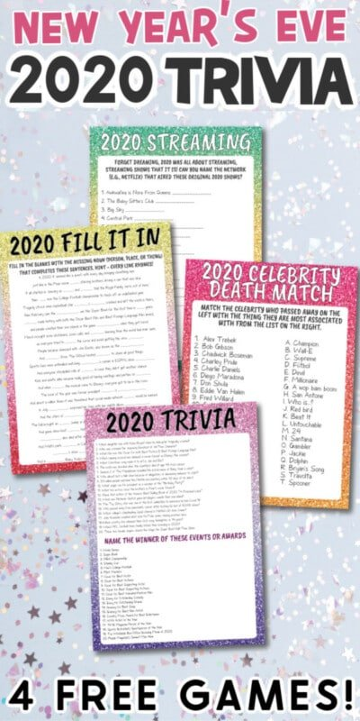 New Years Eve trivia games