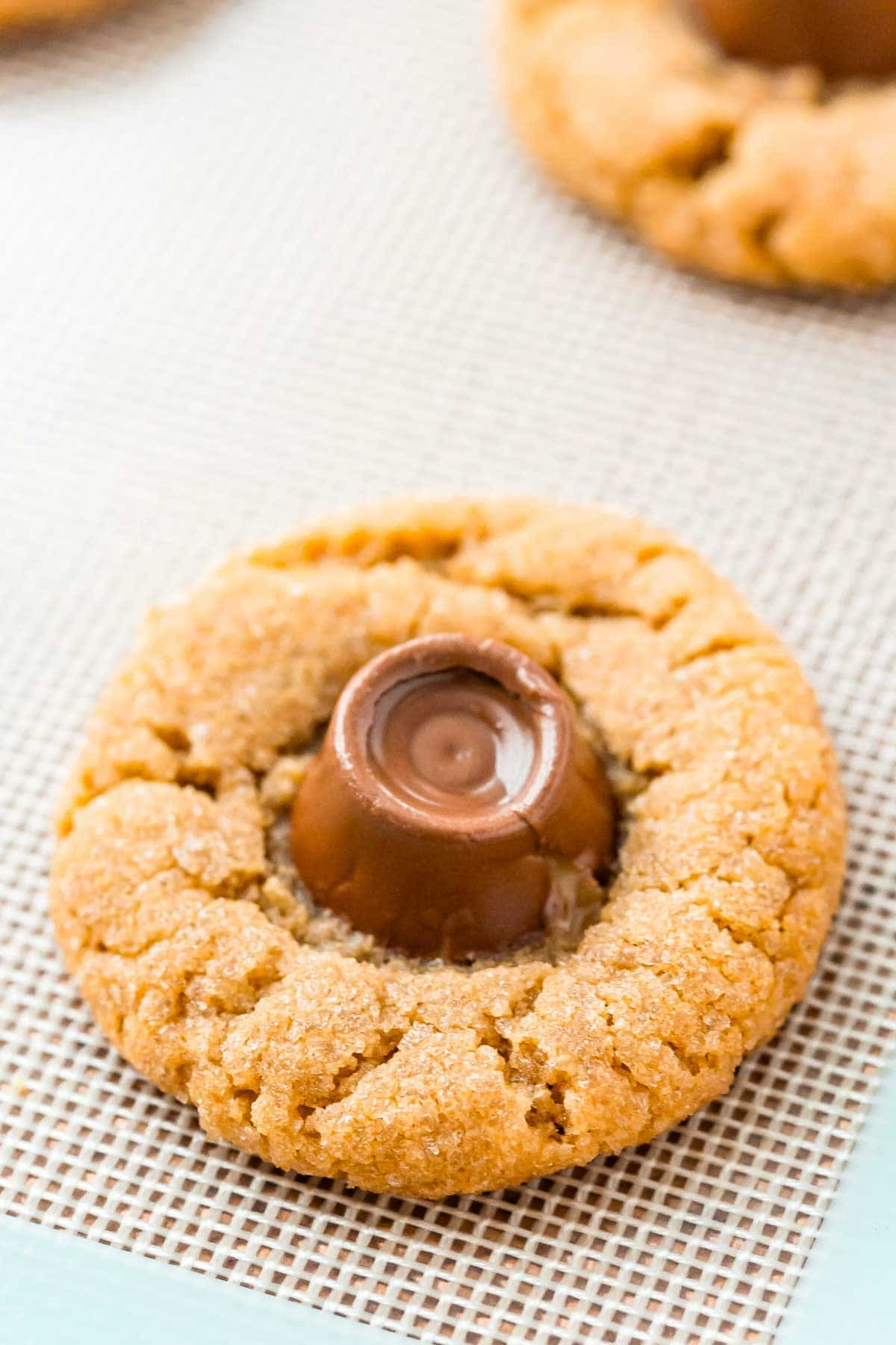 Peanut butter blossoms with rolos