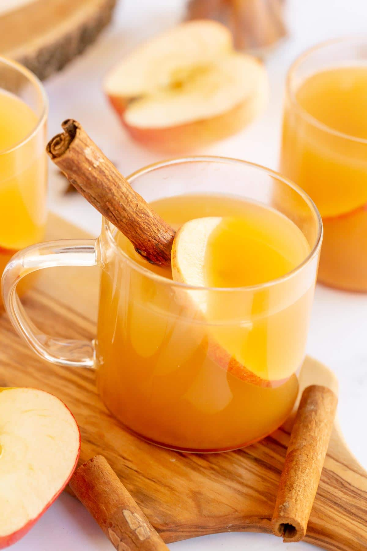 Glass of spiced apple cider