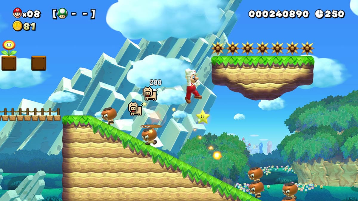 Still image from Super Mario Maker 2 level