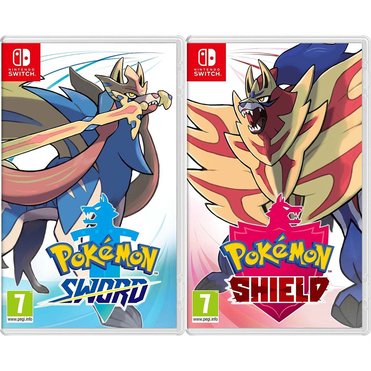 Covers of Pokemon sword & shield nintendo switch games