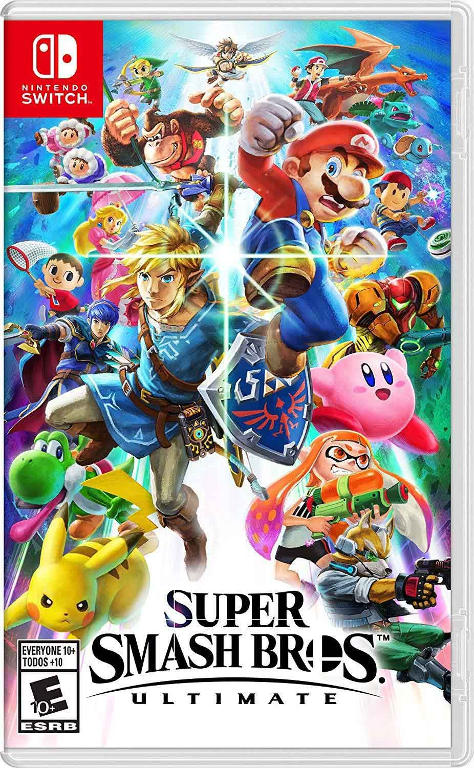 Cover of Super Smash Bros Nintendo Switch game