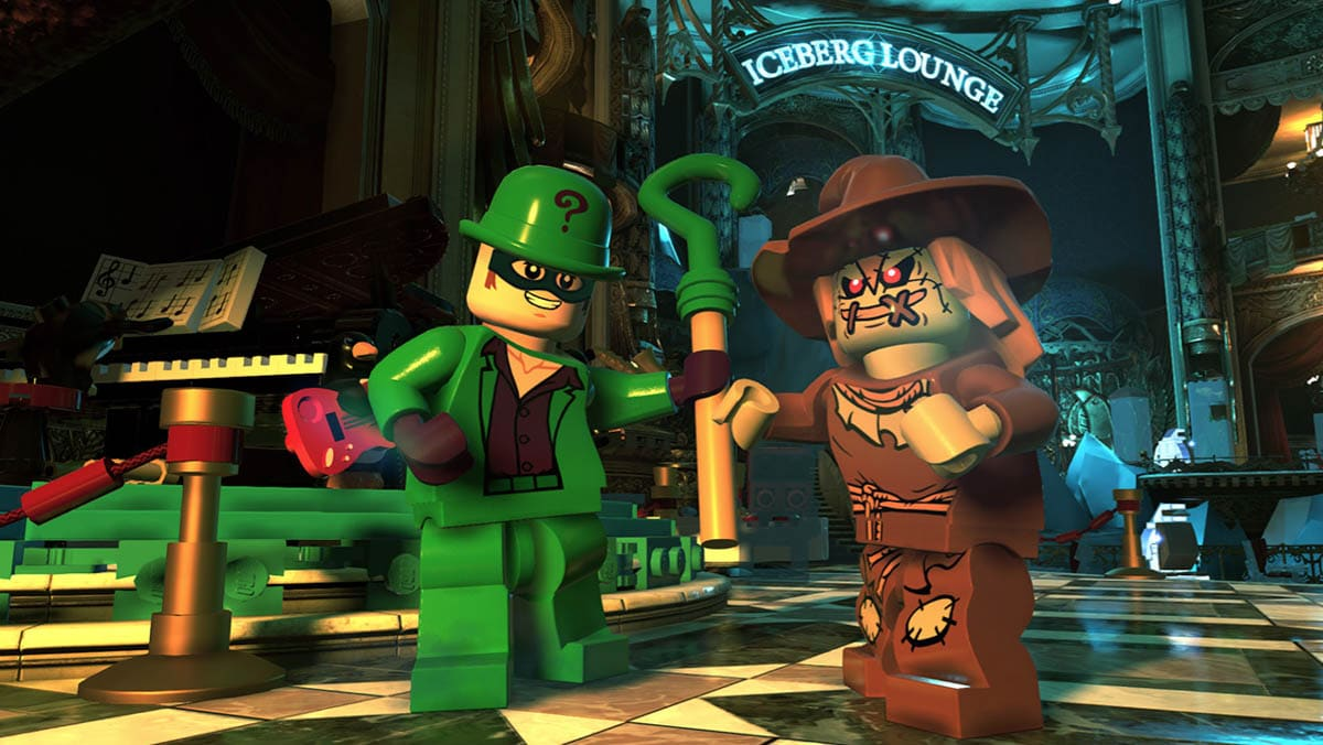 Riddler and Scarecrow in DC Super-Villains game