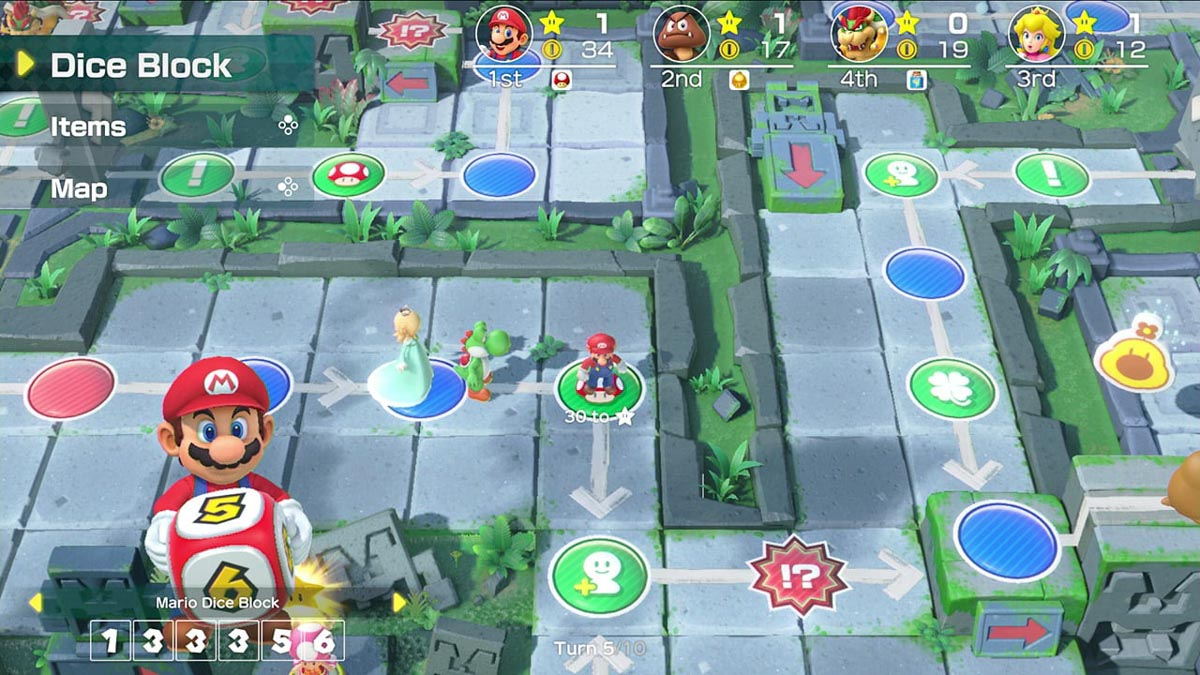 Game board in Super Mario Party