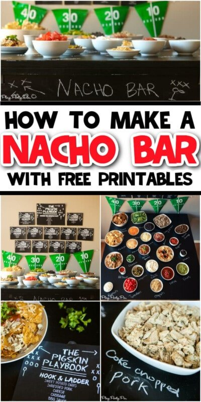 Collage of nacho bar images
