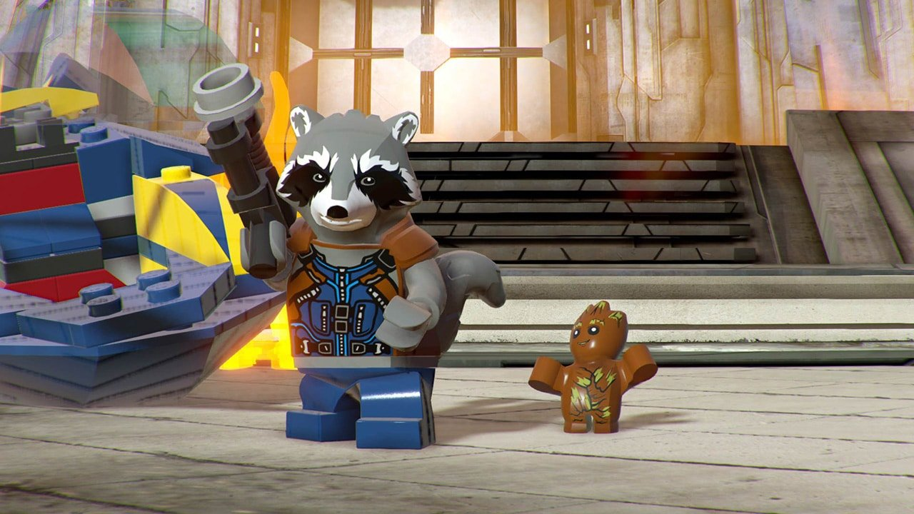 Rocket and Baby Groot in Marvel Super Heroes 2 game