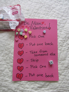 Pink card with hearts and words