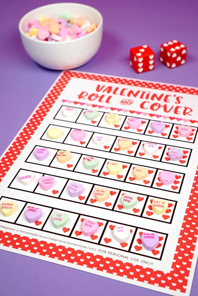Valentine's roll and cover game