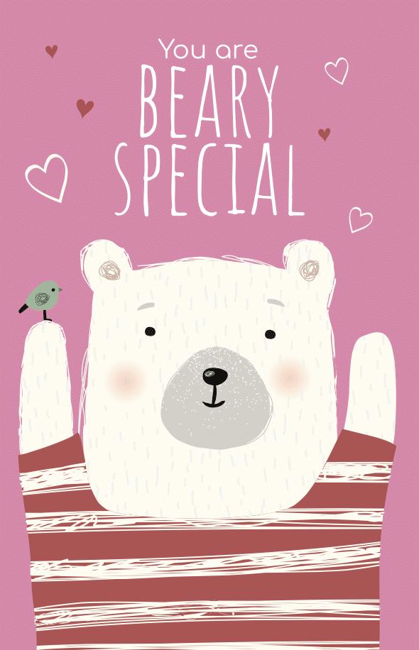 Pink bear valentine