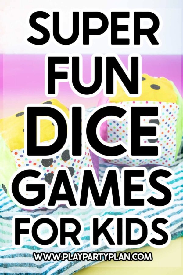 Dice games for kids label