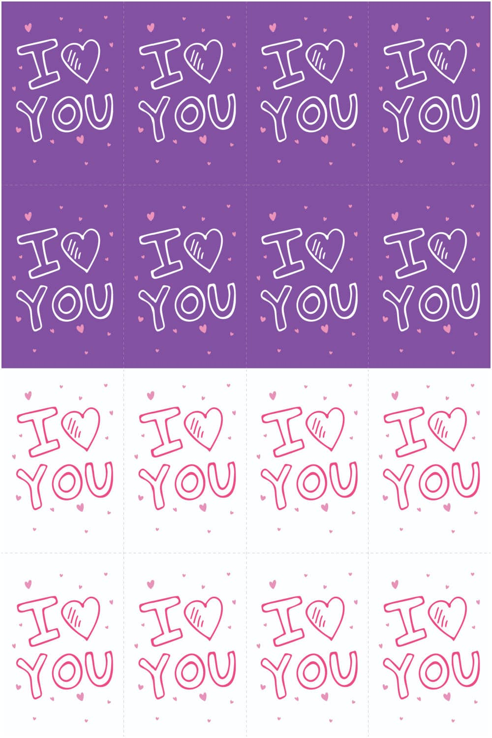 I Heart You Valentine Cards