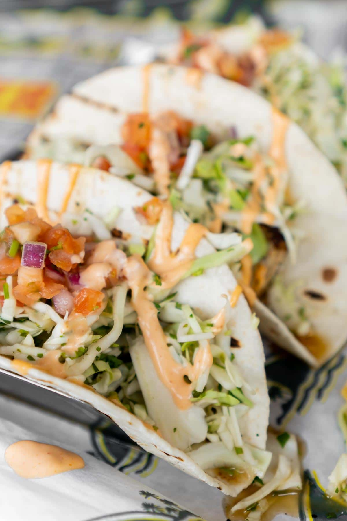 Fish tacos from a restaurant at Margaritaville Lake Conroe