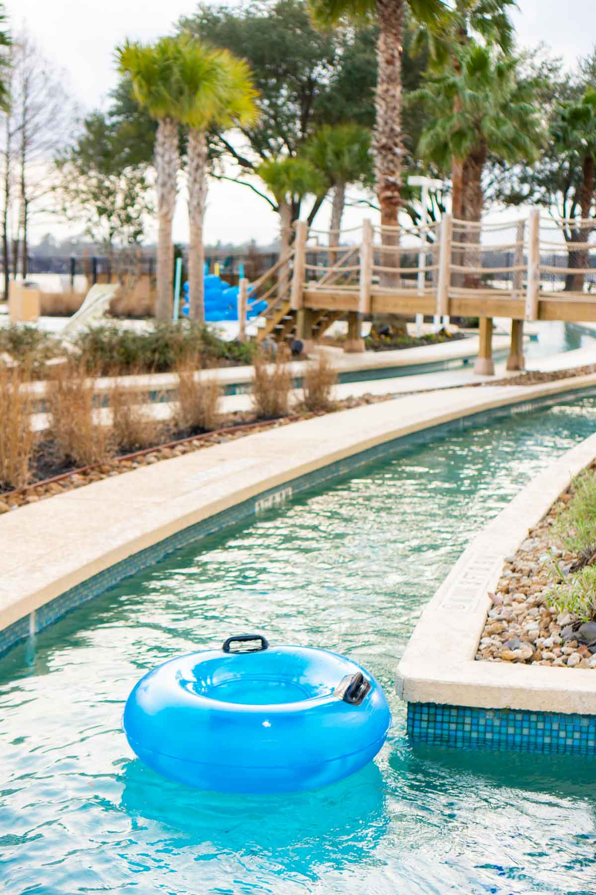 Pool tube in the lazy river at Margaritaville Conroe