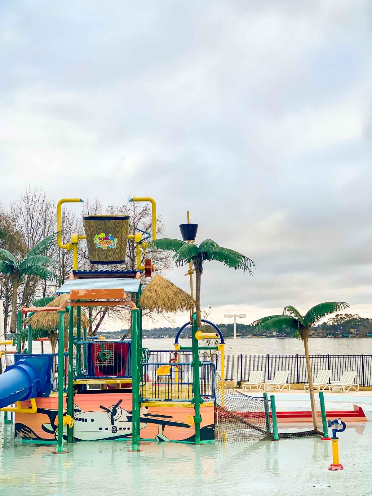 Splash park at Margaritaville Lake Conroe
