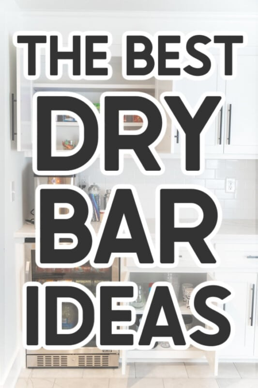Dry bar with an overlay and text