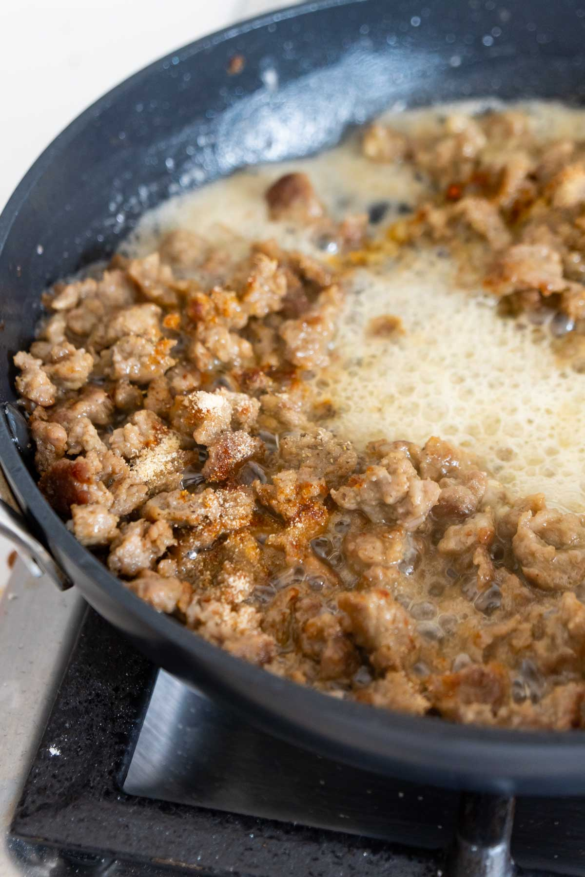 browned sausage gravy with spices