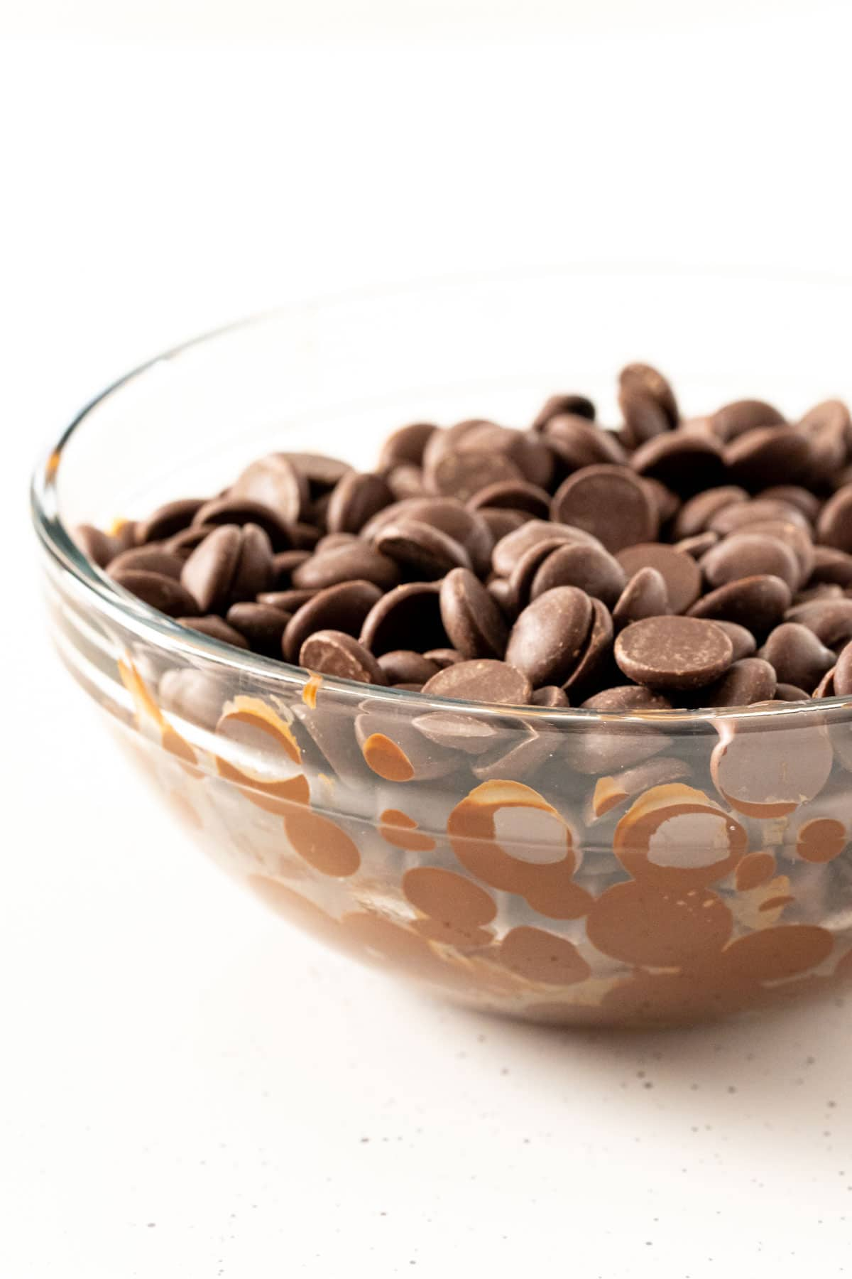 Bowl with melted chocolate in it