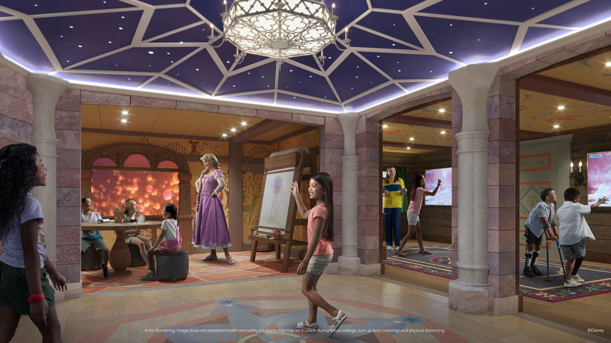 Room with princesses and girls on Disney Wish