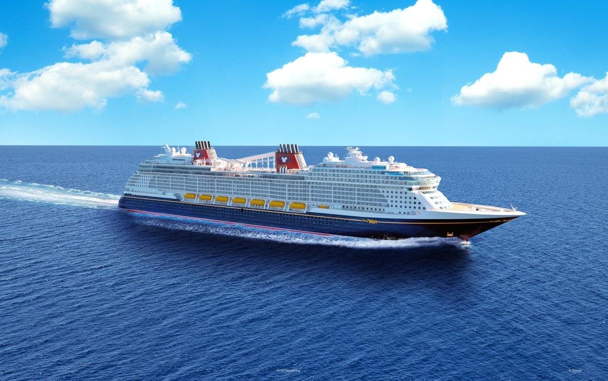 A photo of the Disney Wish sailing