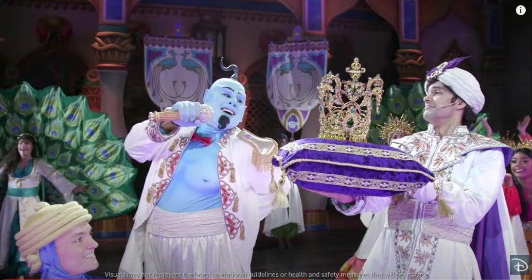 Genie and Aladdin singing