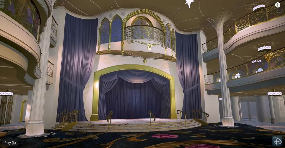 Stage in the Grand Hall on Disney Wish