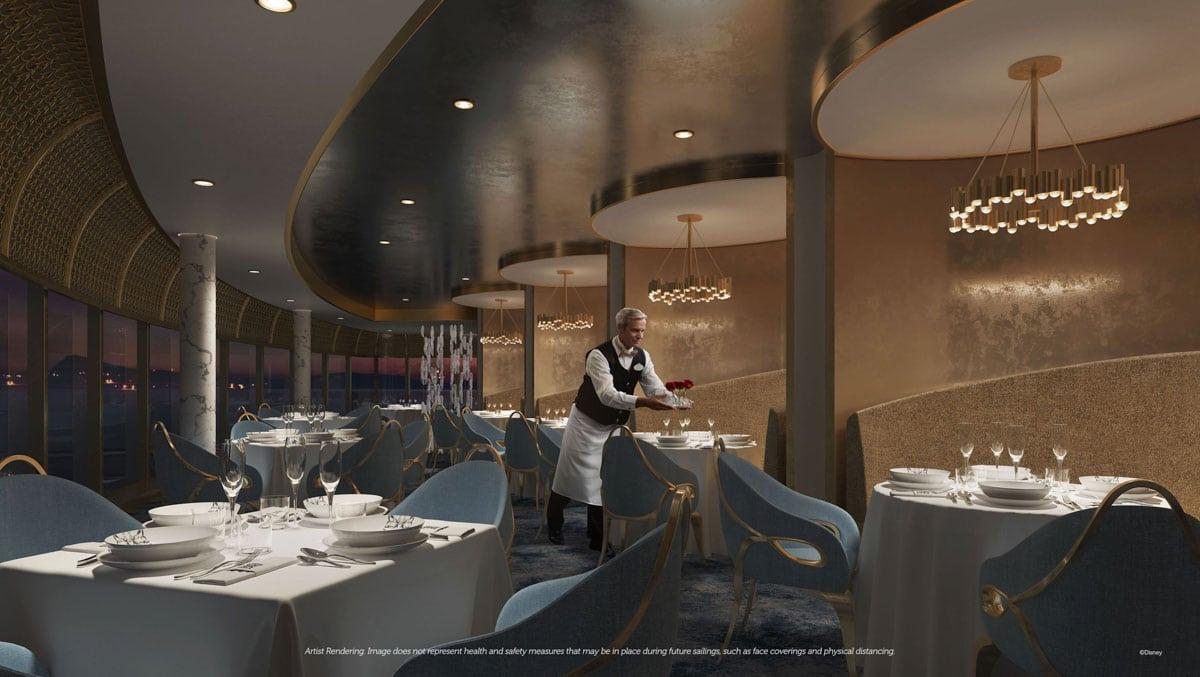 Intimate dining room on Disney Wish