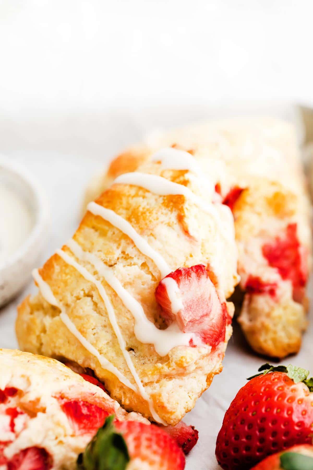 Large strawberry scone