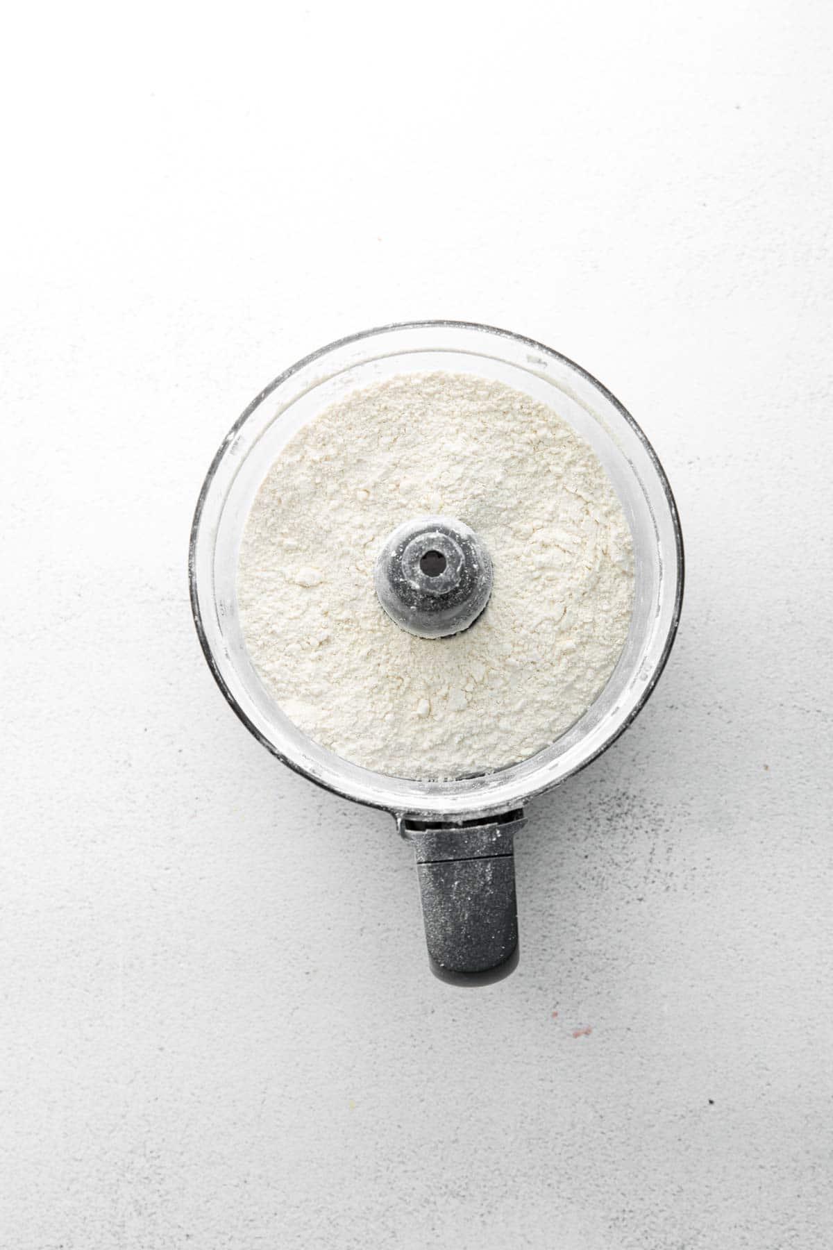food processor with flour