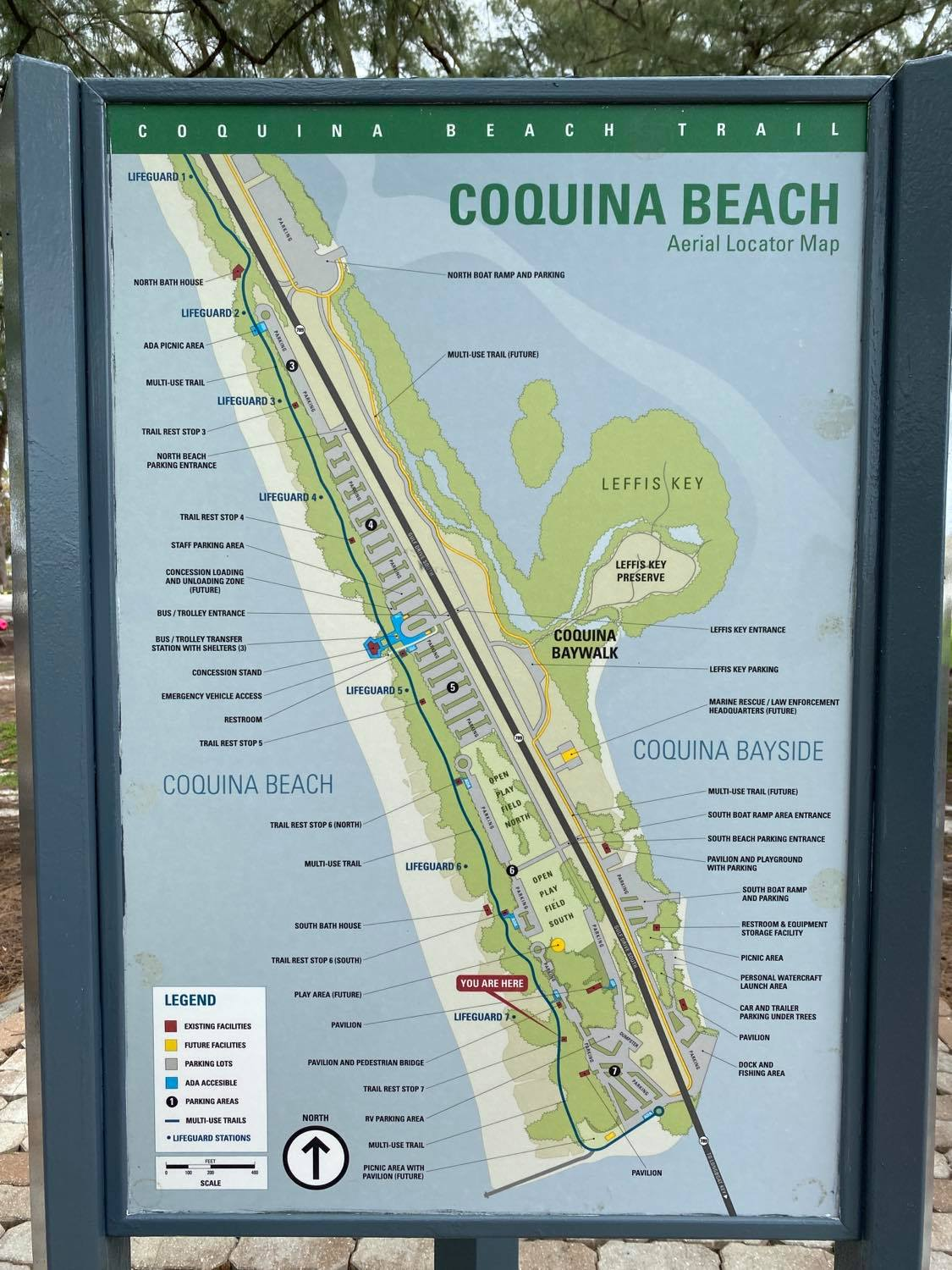 map of coquina beach florida