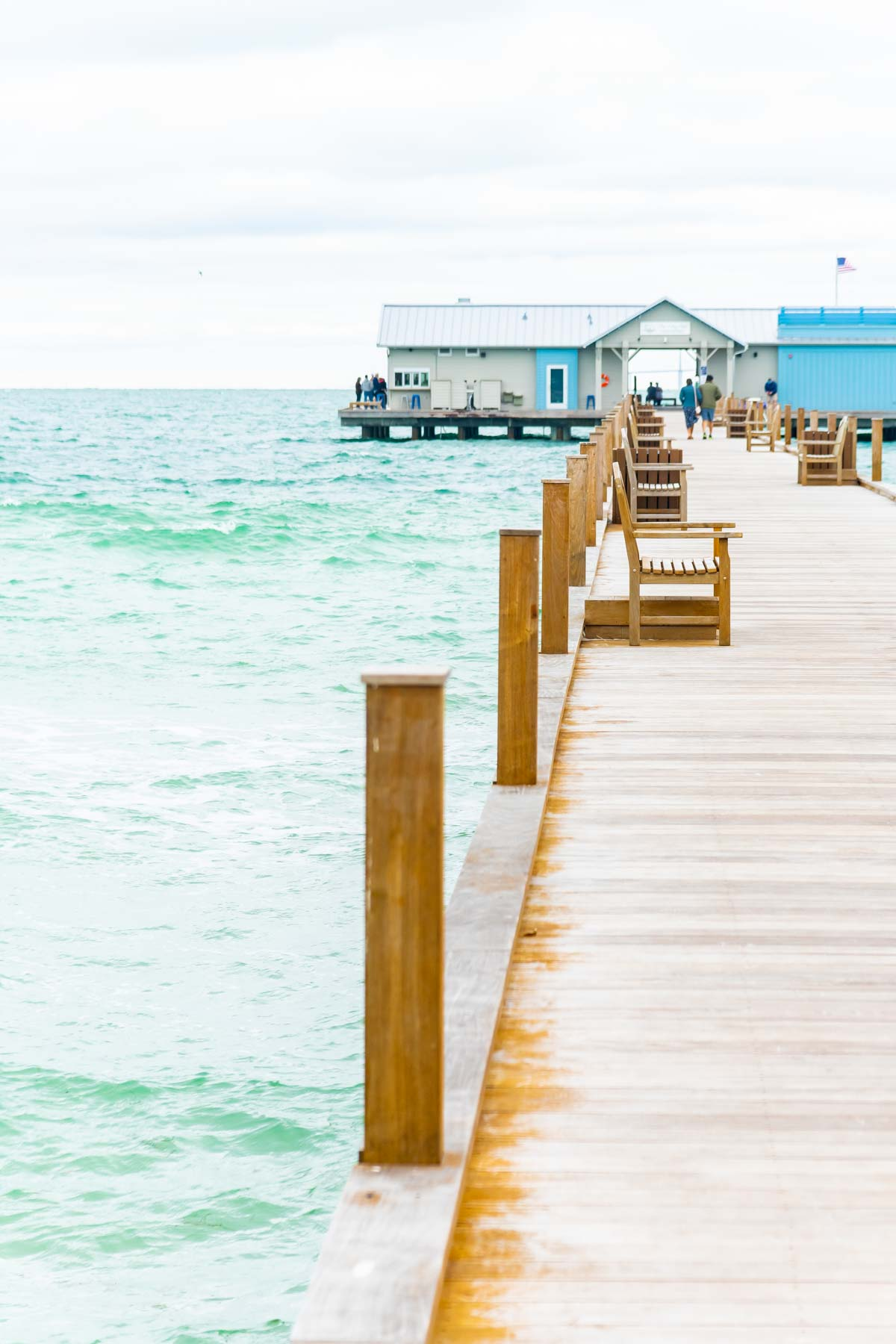 Wood pier on the ocean