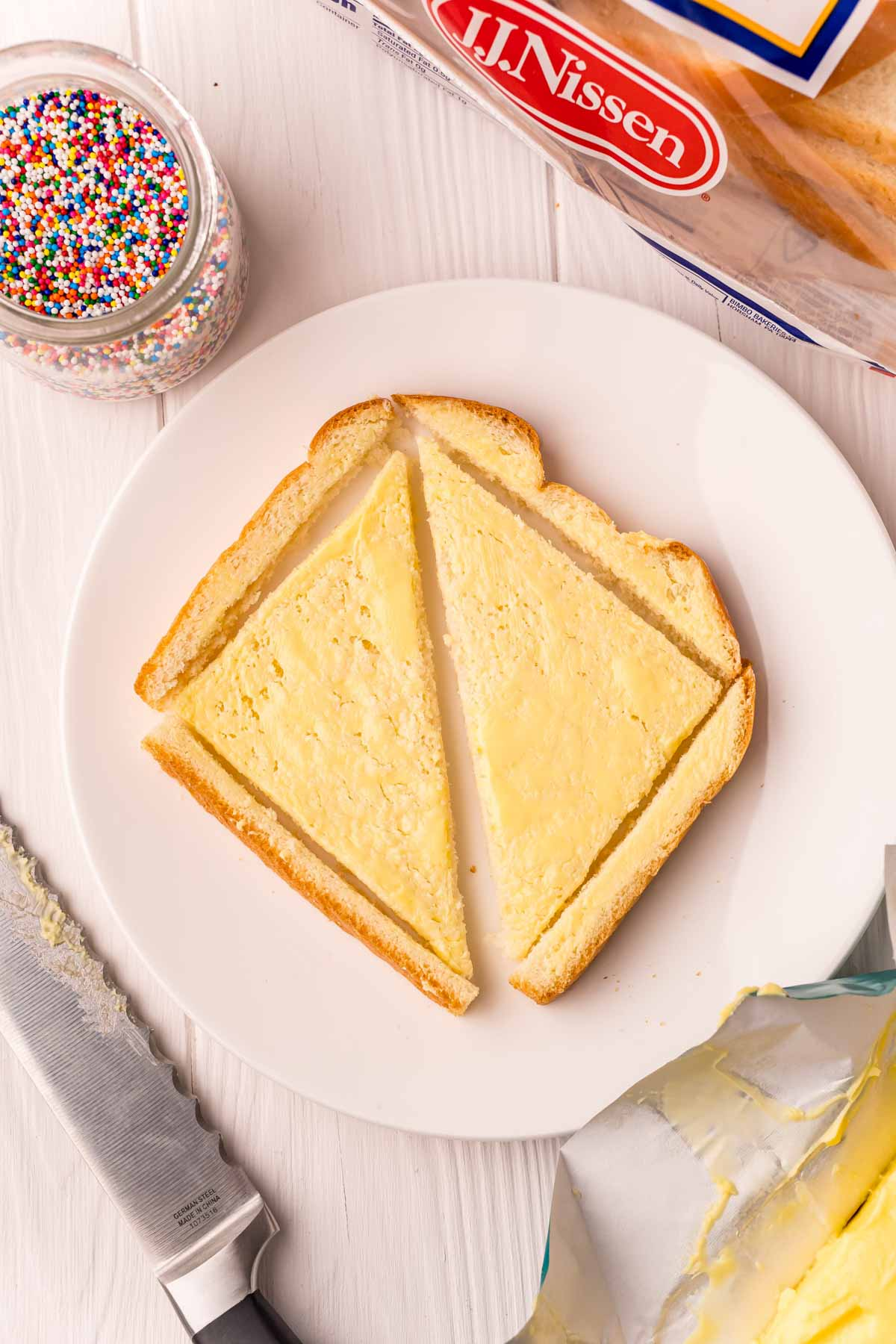piece of bread with butter on it