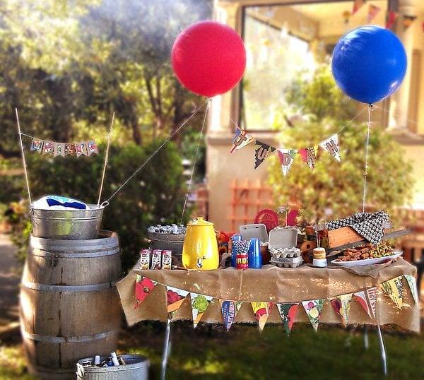 Farmer's Market birthday party table