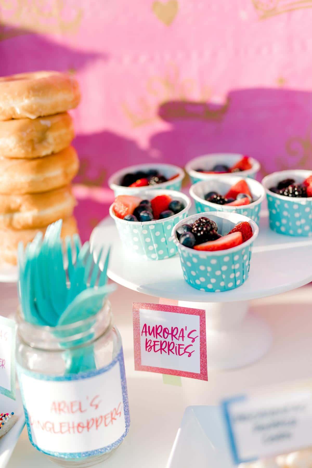 cups of berries
