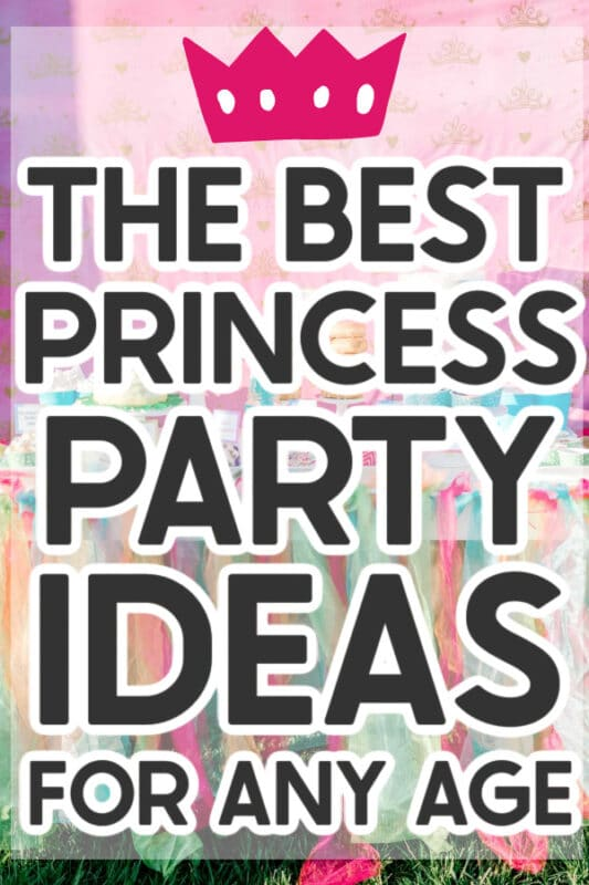 image of a princess party table with text on it