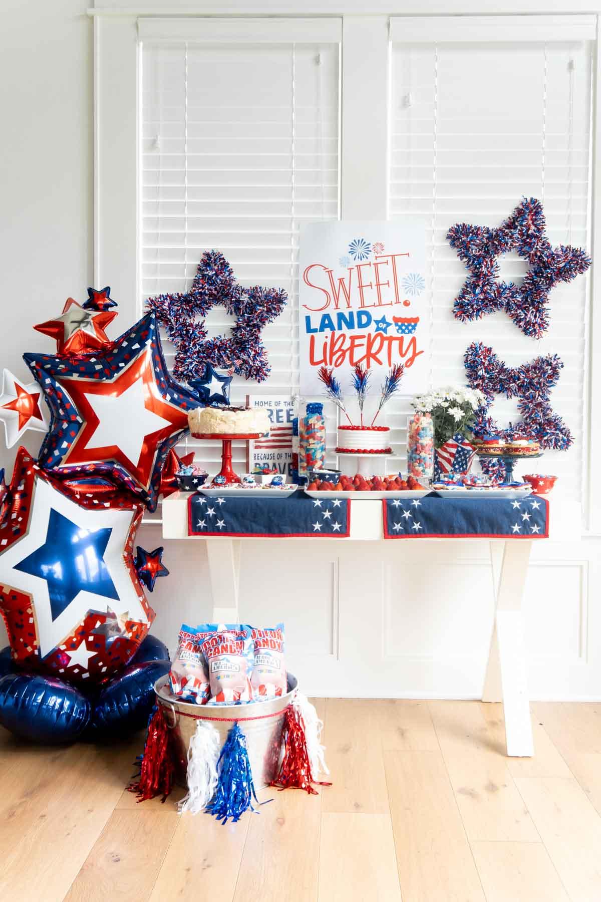 sweet land of liberty table