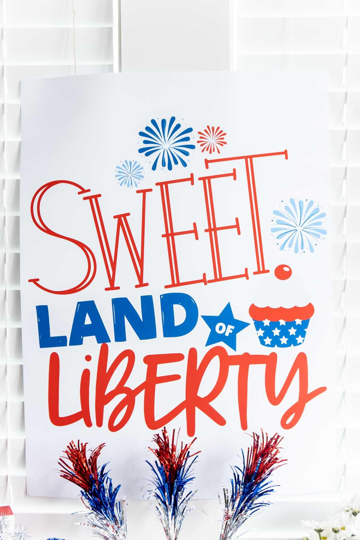 sweet land of liberty backdrop
