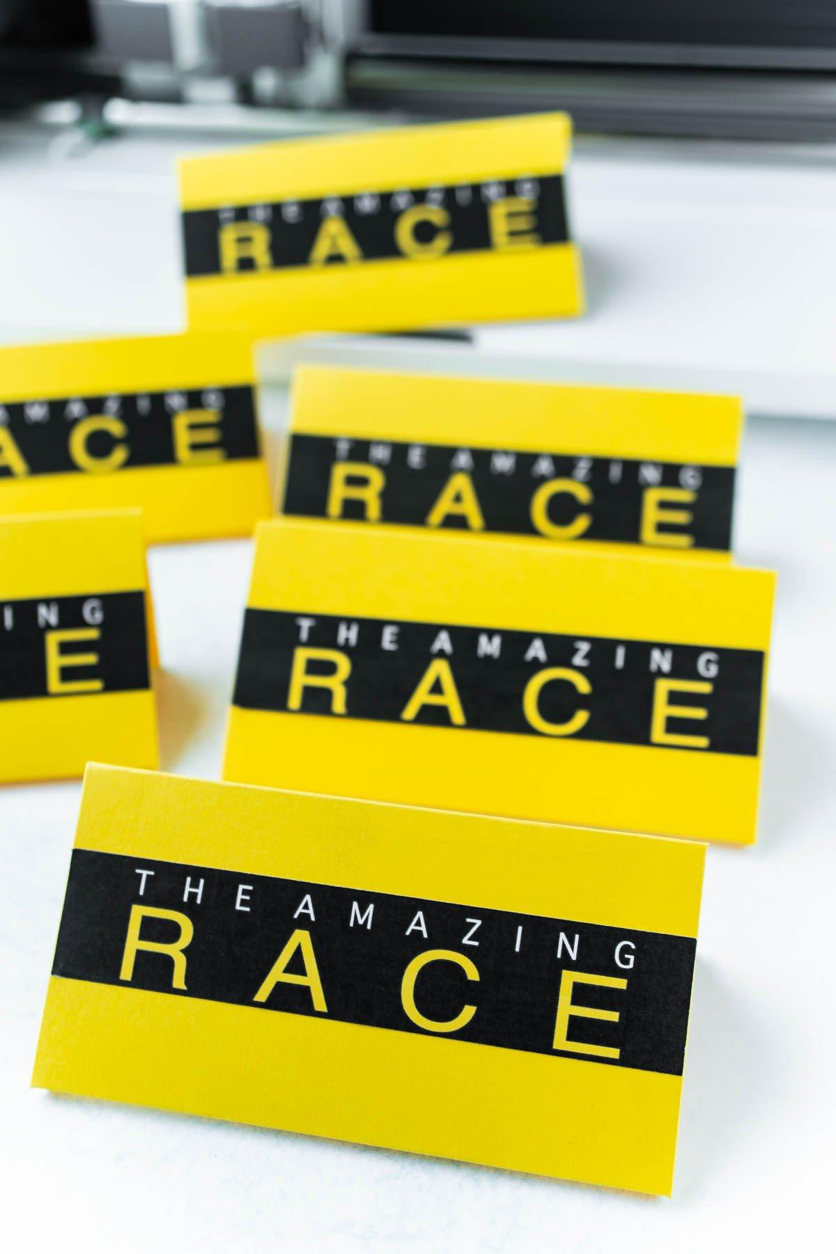 Amazing Race envelopes