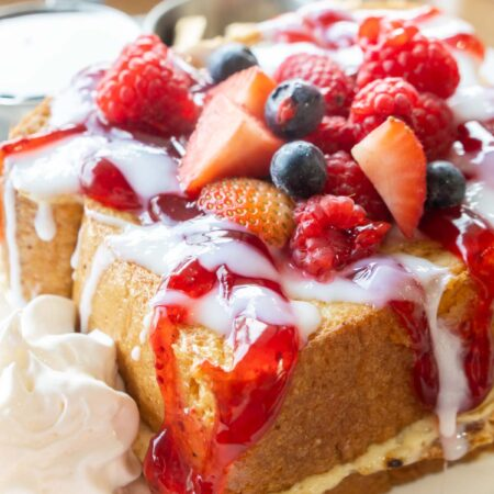 berry stuffed French toast at Hy-Vee breakfast
