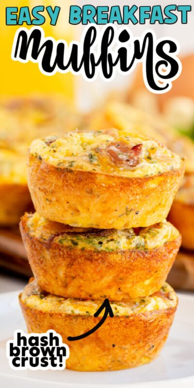stack of egg breakfast muffins