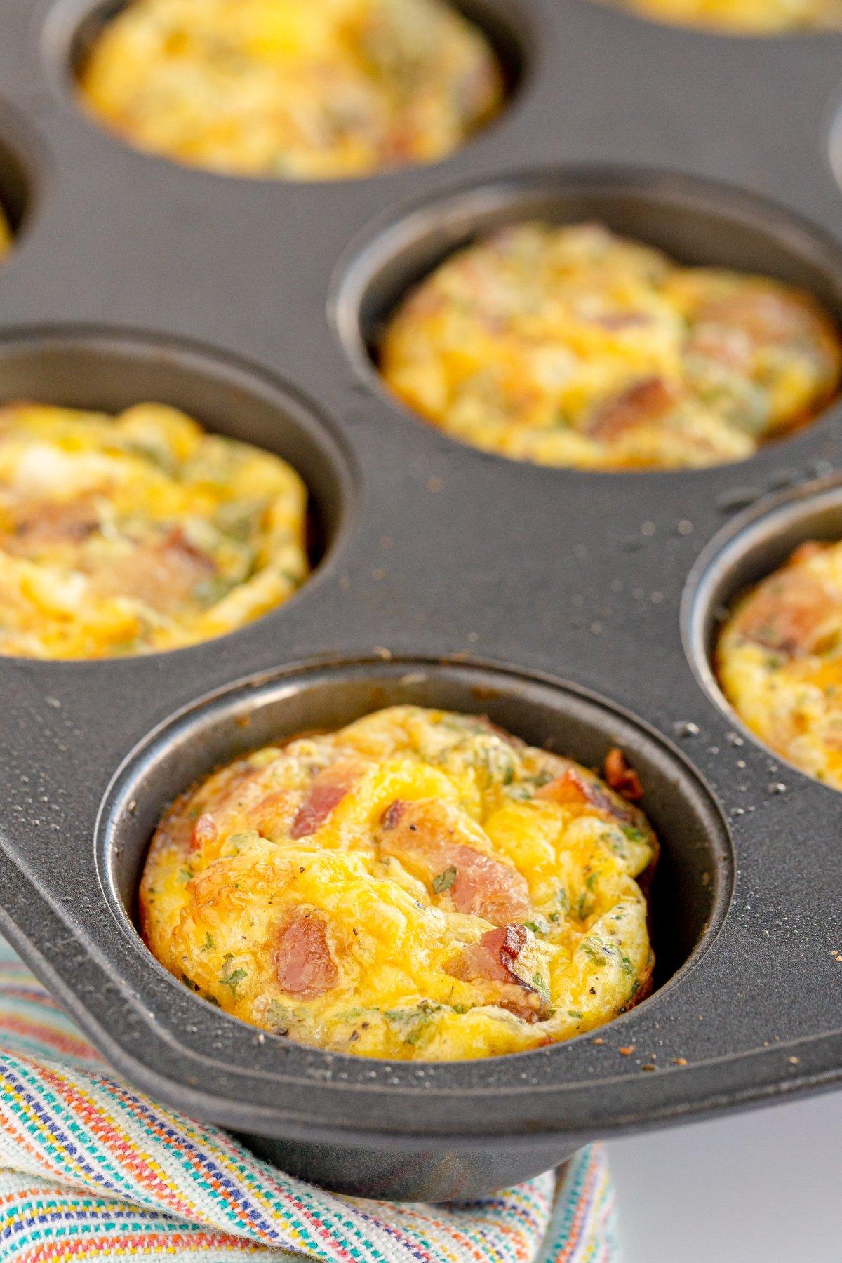breakfast muffins in a muffin tin